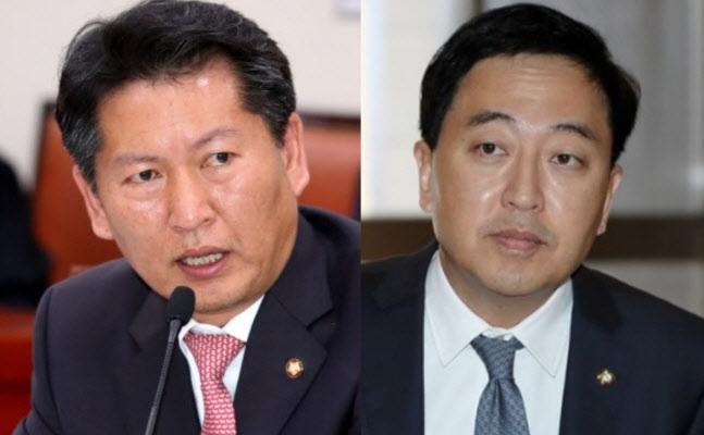 정청래 더불어민주당 의원(왼쪽), 금태섭 민주당 전 의원 (사진=연합뉴스/뉴스1)