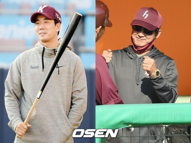 [사진] 키움 김창현 감독대행(왼쪽), 설종진 2군 감독 / OSEN DB