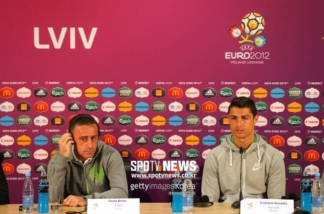 ▲ 유로2012에서 벤투 감독과 호날두(왼쪽부터)