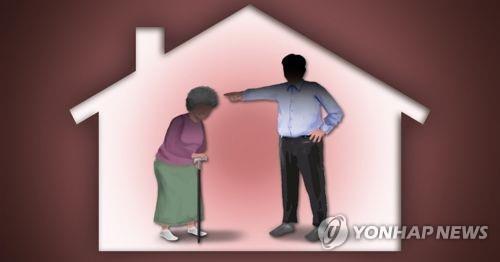가정폭력, 시모 노인 폭행·학대(PG) [제작 이태호] 일러스트