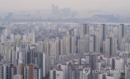 서울 서대문구와 마포구 일대의 아파트 [연합뉴스 자료사진]