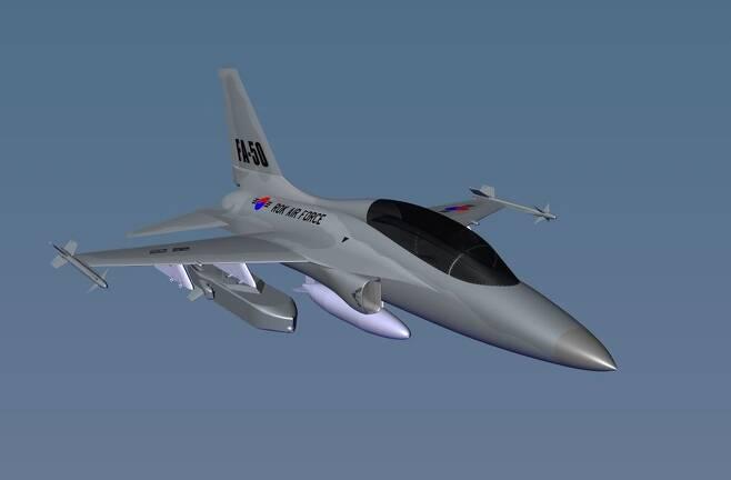 FA-50 경공격기에 '타우러스 350K-2' 장착 시뮬레이션 [타우러스 시스템즈 제공. 재판매 및 DB 금지]