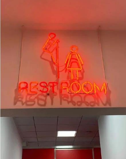 중국 식당서 '여성 엿보는 화장실 표지판'에 비난 폭주 [글로벌타임스 캡처.재판매 및 DB 금지]