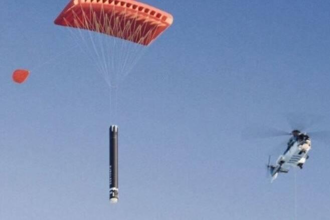 지난해의 낙하산 회수 시험 장면. 로켓랩 제공