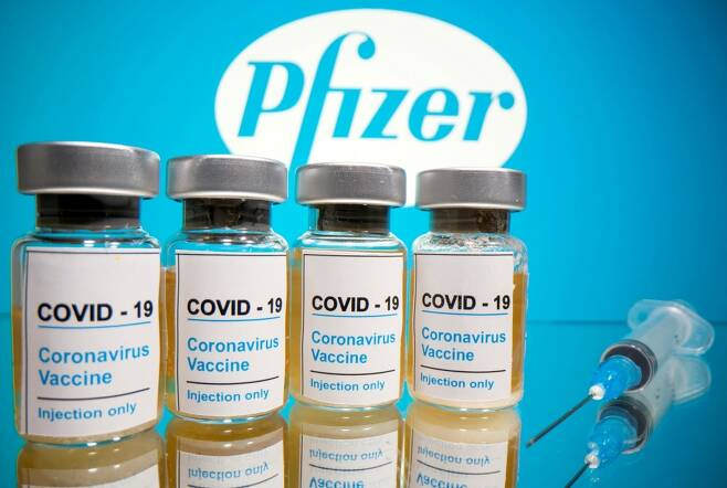 미국 화이자-독일 바이오엔테크사가 공동개발한 코로나19 백신 후보물질/사진=AFP