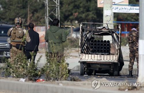 카불 시내 로켓 발사에 사용된 소형 트럭 [EP=연합뉴스]