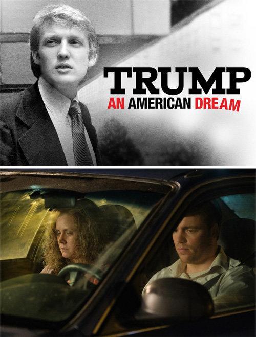도널드 트럼프 미국 대통령을 다룬 다큐멘터리 '트럼프: 미국인의 꿈'(위쪽 사진)과 넷플릭스 오리지널로 제작된 영화 '힐빌리의 노래'. 넷플릭스 제공