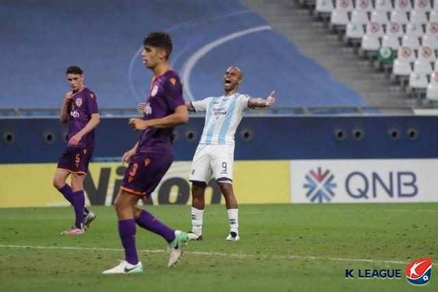 [서울=뉴시스] 울산 현대 주니오가 극장골로 승리를 이끌었다. (사진=프로축구연맹 제공)