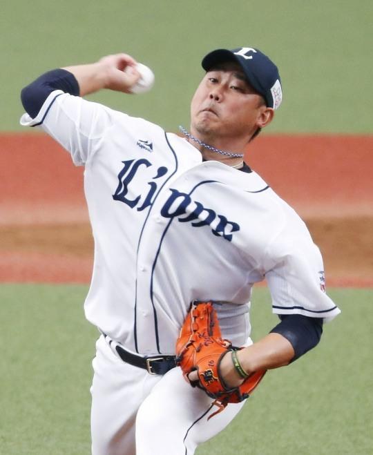 일본프로야구 세이부 라이언스 투수 마쓰자카 다이스케. 마쓰자카는 한때 일본 야구의 아이콘으로 '마구'를 던지는 투수로 유명했다. 1999년부터 2006년까지 일본프로야구 세이부에서 114승(65패)을 올린 뒤 미국 메이저리그에 진출해 보스턴 레드삭스, 클리블랜드 인디언스, 뉴욕 메츠에서 뛰었다.