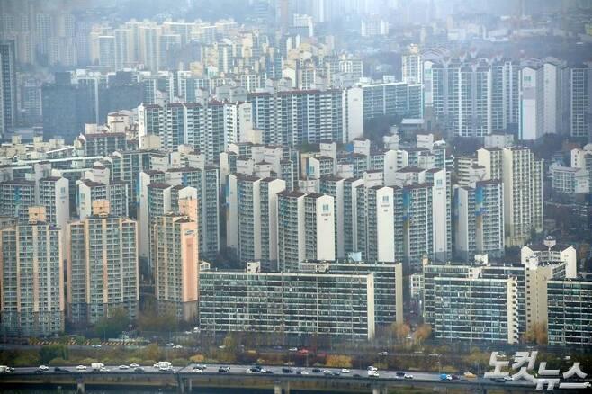 지난 19일 서울 도심 아파트 모습 (사진=박종민 기자)