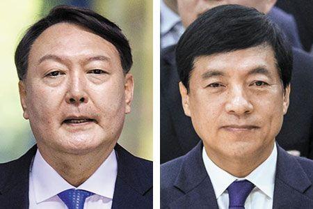 윤석열 검찰총장(왼쪽), 이성윤 중앙지검장