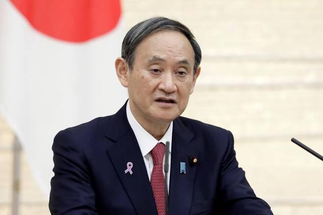 스가 요시히데 일본 총리. /AFPBBNews=뉴스1