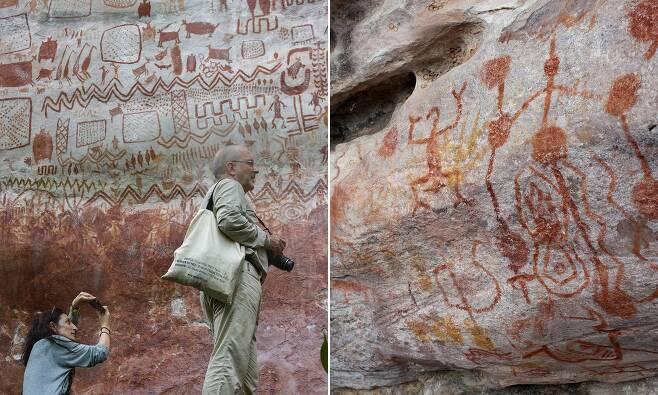 길이만 12㎞…아마존 열대우림서 1만2000년 된 벽화 발견(사진=AFP 연합뉴스)