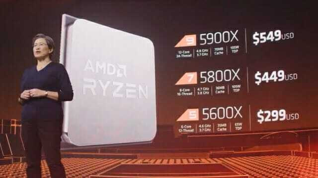 AMD 라이젠 5000 시리즈는 상위 제품에서 극심한 물량 부족 현상을 겪고 있다. (그림=AMD)