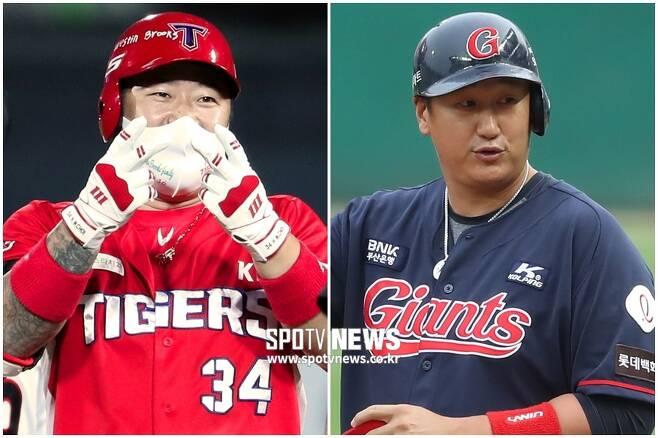 ▲ 최형우(왼쪽)와 이대호 ⓒ 곽혜미, 한희재 기자