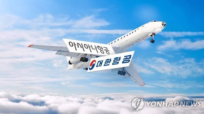 대한항공의 아시아나 인수 추진(CG) [연합뉴스TV 제공]