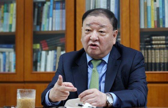 주일대사로 내정된 강창일 전 더불어민주당 의원. 김상선 기자
