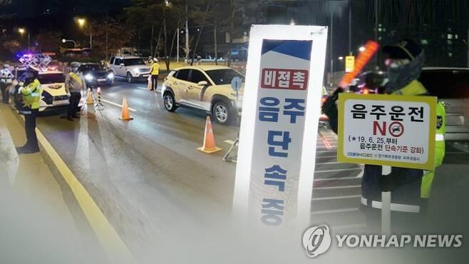 엄중 단속 경고에도…음주운전 적발 속출 (CG) [연합뉴스TV 제공]