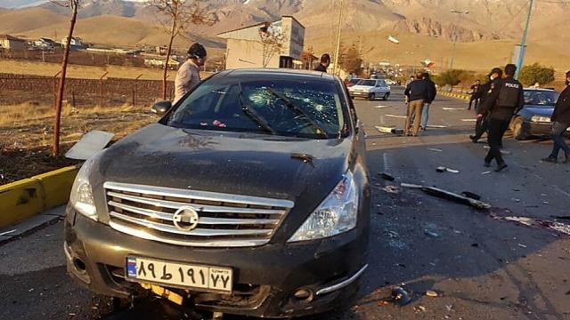 이란 핵과학자 모센 파크리자데의 암살 현장./AP=연합뉴스