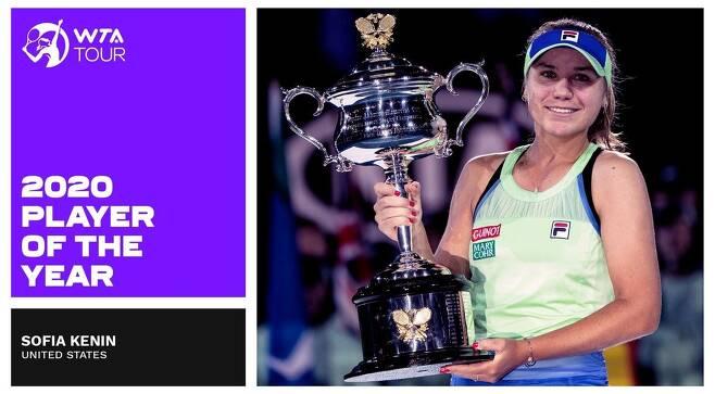 2020년 올해의 선수로 선정된 케닌. [WTA 투어 인터넷 홈페이지 사진. 재판매 및 DB 금지]
