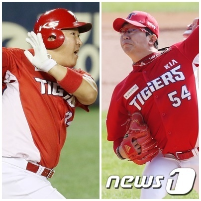 KIA 타이거즈 내부 FA인 최형우(왼)와 양현종. © 뉴스1