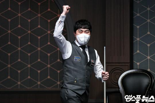 코리아 당구 그랑프리 1차 대회 우승자 김준태(사진=엠스플뉴스)