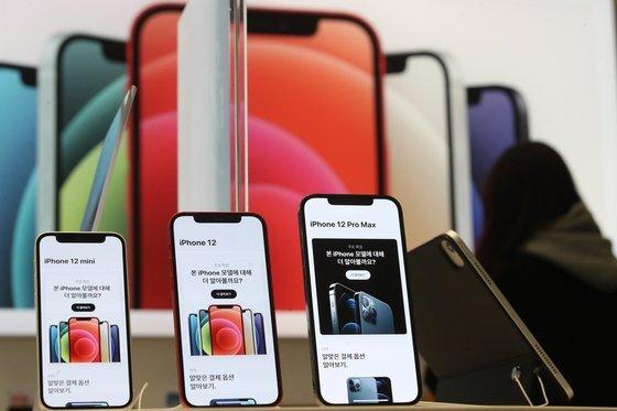 삼성디스플레이와 LG디스플레이의 OLED를 탑재한 애플의 아이폰12 시리즈