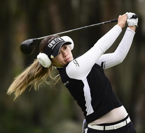 미국 텍사스주 휴스턴의 챔피언스 골프클럽에서 끝난 2020년 미국여자프로골프(LPGA) 투어 메이저 골프대회 제75회 US여자오픈에서 공동 6위를 기록한 이정은6 프로가 4라운드에서 경기하는 모습이다. 사진제공=Robert Beck/USGA
