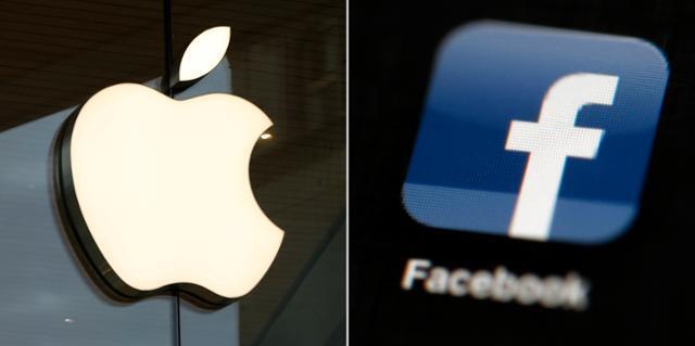 애플과 페이스북의 로고. AP 연합뉴스