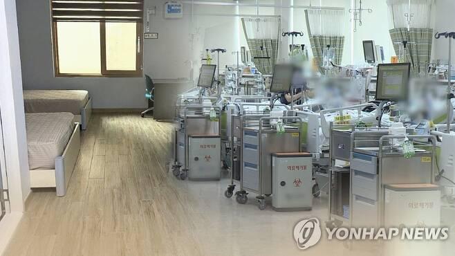 병상 부족 심화 (CG) [연합뉴스TV 제공. 재판매 및 DB 금지]