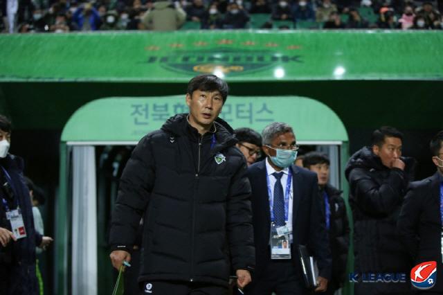 전북 현대 김상식 감독  사진제공=한국프로축구연맹
