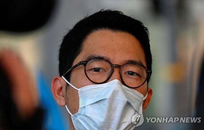 영국에 망명을 신청한 홍콩 민주화 인사 네이선 로 [AFP=연합뉴스]