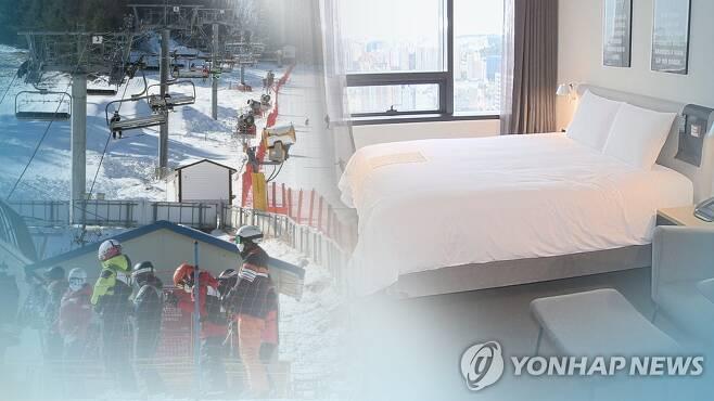 해돋이 명소·스키장 연말연시 폐쇄 (CG) [연합뉴스TV 제공]