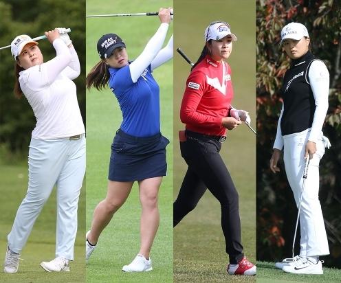 코로나19 대유행 속에서 2020년 미국여자프로골프(LPGA) 투어에서 우승을 차지한 박인비, 김세영, 김아림, 고진영 프로. 사진제공=KLPGA