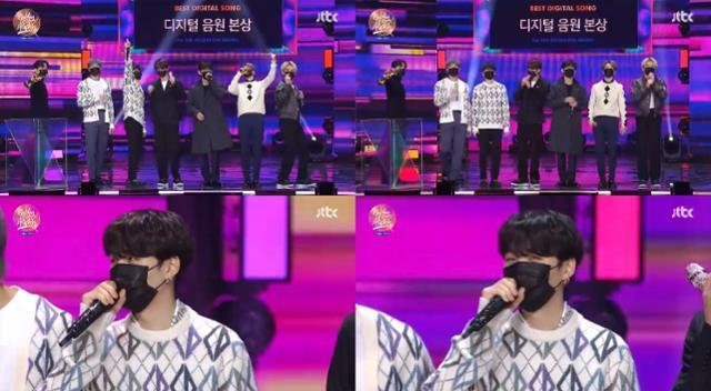 '35회 골든디스크어워즈' 방탄소년단 슈가가 유쾌한 복귀 소감을 전했다. JTBC 캡처
