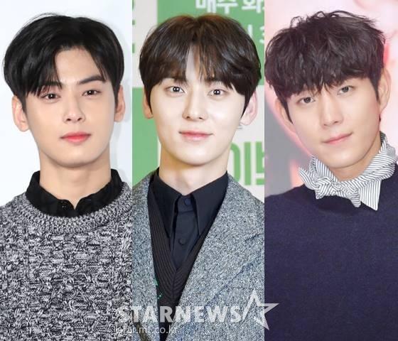 그룹 아스트로 차은우, 뉴이스트 황민현, 배우 김영대 /사진=스타뉴스