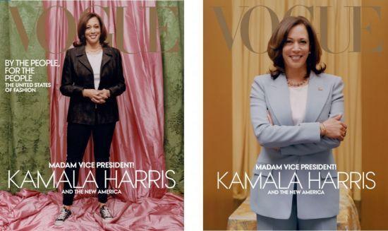 패션잡지 보그가 공개한 다음달 카멀라 해리스 미국 부통령 당선인의 표지 사진.(사진 = 보그 트위터)