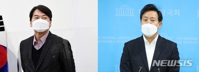 [서울=뉴시스]안철수 국민의당 대표(왼쪽)과 오세훈 전 서울시장(오른쪽). 2021.01.10. (사진=뉴시스DB) photo@newsis.com