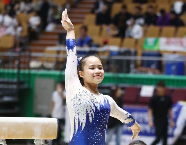 여서정이 지난해 11월 열린 전국종별체조선수권대회에서 경기에 임하고 있다. 대한체조협회 제공