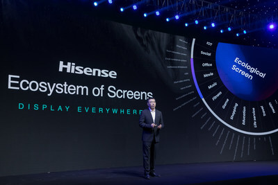 올해 하이센스는 화질과 애플리케이션이라는 핵심 역량에 집중하고, 주사율과 다이내믹 레인지가 높은 신형 ULED TV 제품을 비롯해 새로운 TriChroma 레이저 TV까지 출시할 예정이다. (PRNewsfoto/Hisense)