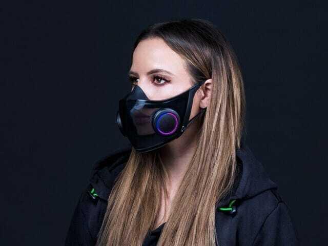 레이저가 CES 2021 행사에서 스마트 마스크 제품을 선보였다. (사진=레이저)