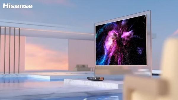 하이센스 독자 기술로 만들어낸 레이저 TV. /하이센스 유튜브 캡처
