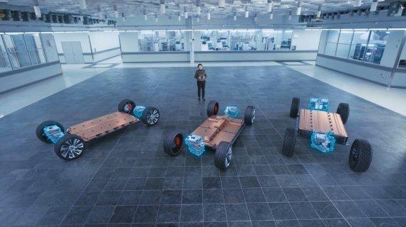 12일(현지시간) GM과 LG에너지솔루션이 공동 개발하고 있는 얼티엄 배터리 플랫폼이 CES 2021에서 공개됐다. GM 제공
