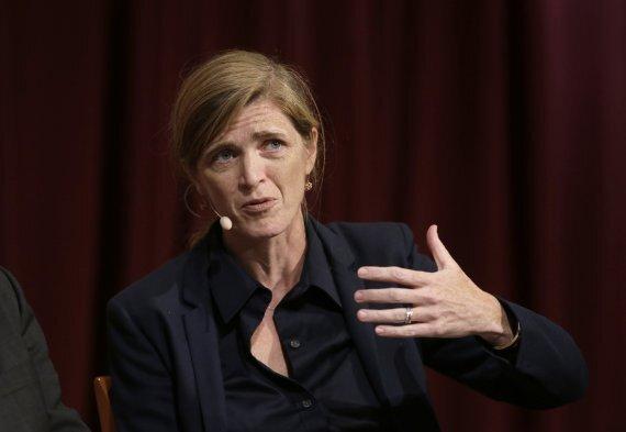 서맨사 파워 전 유엔 주재 미국 대사.AP뉴시스