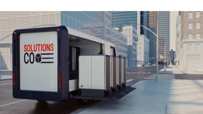 제너럴모터스의 물류 솔루션 사업 '브라이트드롭'에 투입될 밴 EV600. 제너럴모터스 제공