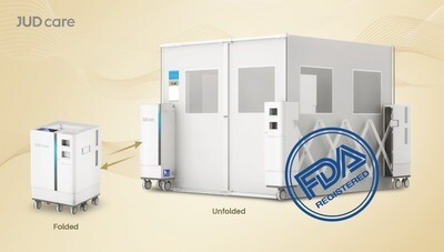 JUD care, a leading high-tech enterprise in the field of smart medical and healthcare solutions, has obtained approval from the US Food and Drug Administration (FDA) for the portable ward sRoom, a revolutionary solution for patient isolation that enables hospitals to quickly set up emergency isolation rooms. (PRNewsfoto/JUD care)