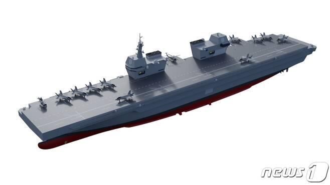 한국형 경항공모함 개념설계 그래픽(해군 제공)© 뉴스1