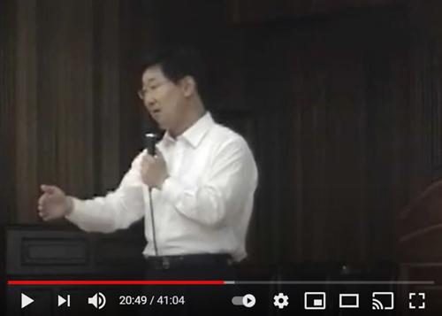박범계 법무부 장관 후보자가 2012년 6월 충남고등학교에서 실시한 특강 화면 캡처.국민의힘 조수진 의원·박범계TV