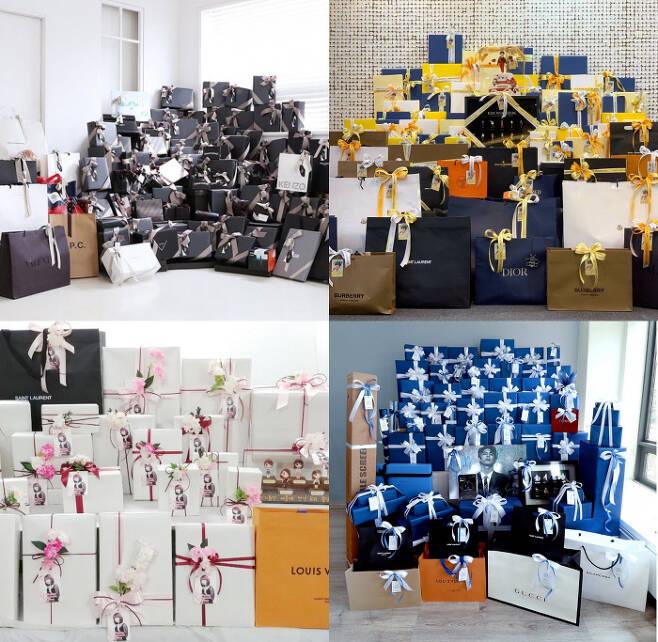 팬들 사이에서는 아이돌의 생일 선물 서포트에 대해 '누가 더 값비싼 선물을 주느냐'가 경쟁처럼 번지기도 한다. 사진 SNS 캡처