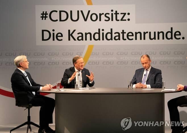 독일 기민당대표 후보 토론회[EPA=연합뉴스]